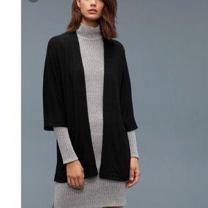 Aritzia Wilfred Free Zlata sweater cardigan black